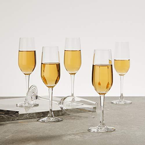 OCEAN 6 Piece Lexington Flute Champagne Glass Set   185 ml