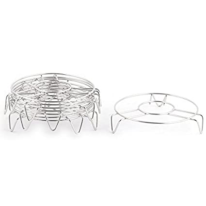 eDealMax redondo de acero inoxidable cocina en forma de 3 patas del soporte Pan vapor del