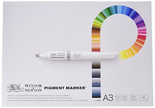 (Winsor & Newton A3 Pigment Marker Paper (Pack Of 50 Sheets))