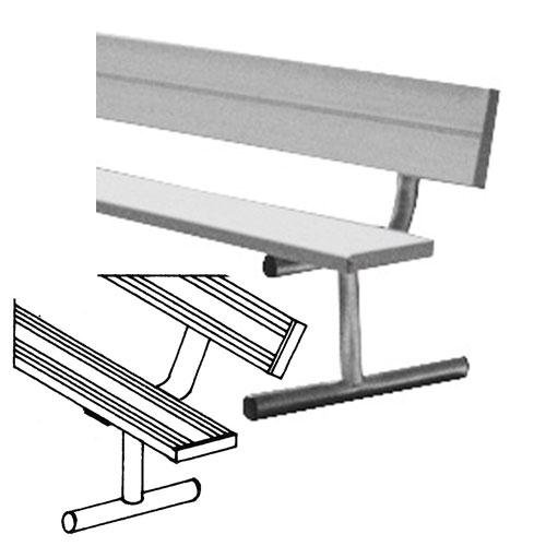 Anodized Aluminum Portable Player's Benches With Back 7 1/2' by Sport Supply Group