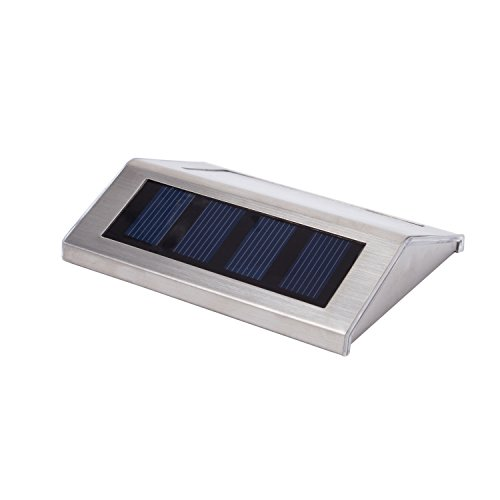Lightess solar stair lights outdoor led step lighting 2 leds lightess solar stair lights outdoor led step lighting 2 leds stainless steel for steps paths patio decks pack of 6 mozeypictures Gallery