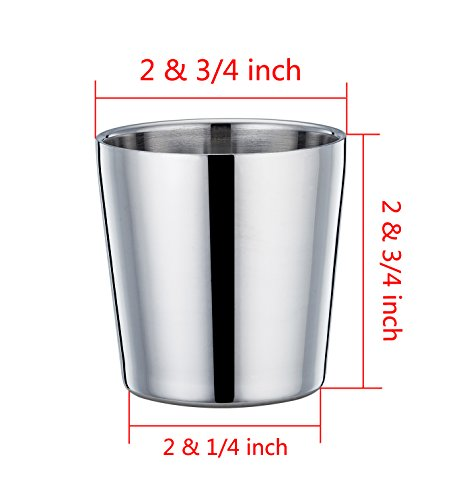 TeamFar Toddler Cup, Stainless Steel Kids Cups Mugs, Insulated Double Wall & BPA Free, Healthy & Dishwasher Safe, 6 OZ - Set of 4 by TeamFar (Image #6)