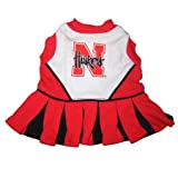 Nebraska Corn Huskers Dog Cheer Leading Dress & Leash Set Size SM