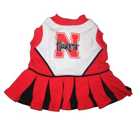 Nebraska Corn Huskers Dog Cheer Leading Dress & Leash Set Size MD