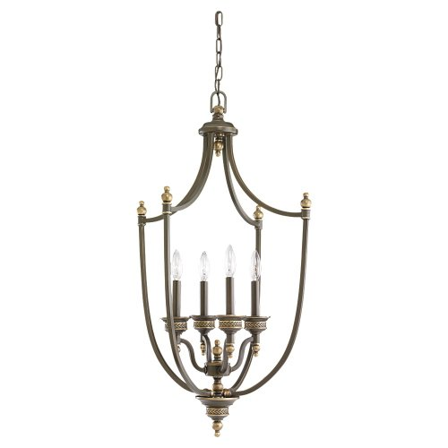 Sea Gull Lighting Laurel Leaf 51350-708 Four Light Hall/Foyer Laurel Pendant Lighting