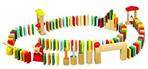 Idee+Spiel - Dominó de madera, 100 fichas