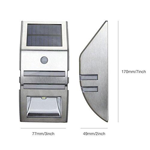 Foco solar de pared oxyled de 40 l menes sensor de movimiento - Focos solares amazon ...