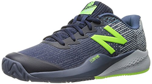 New Balance Mens 996v3 Hard Court Tennis Shoe, Pigment/Light Cyclone/Energy Lime, 41.5 D(M) EU/7.5 D(M) UK