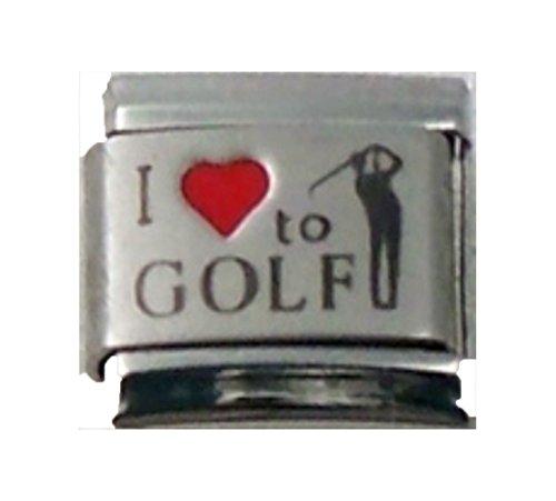 Stylysh Charms Golf I Love Golf RH Laser Italian 9mm Link SP042 -