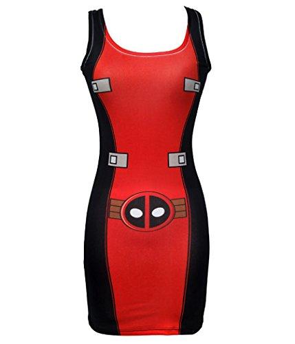 Marvel I Am Deadpool Junior Women's Tunic Dress-Junior Medium [JM] for $<!--$26.99-->