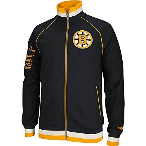 CCM Boston Bruins Full Zip Hockey Track Jacket (Small)