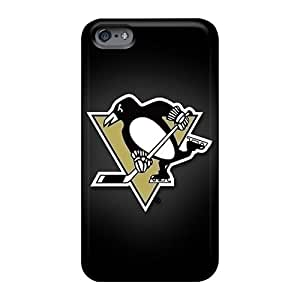 Apple Iphone 6 Plus KWS14011sotJ Allow Personal Design Attractive Pittsburgh Penguins Pattern Shockproof Hard Phone Covers -KimberleyBoyes
