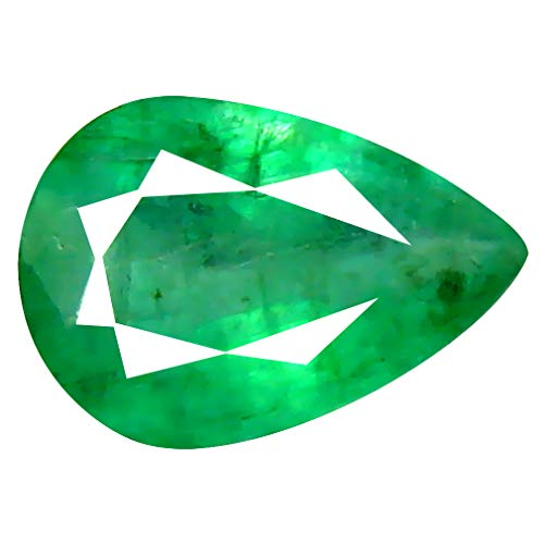 - 0.56 ct Pear Cut (7 x 5 mm) Unheated/Untreated Colombian Emerald Natural Loose Gemstone