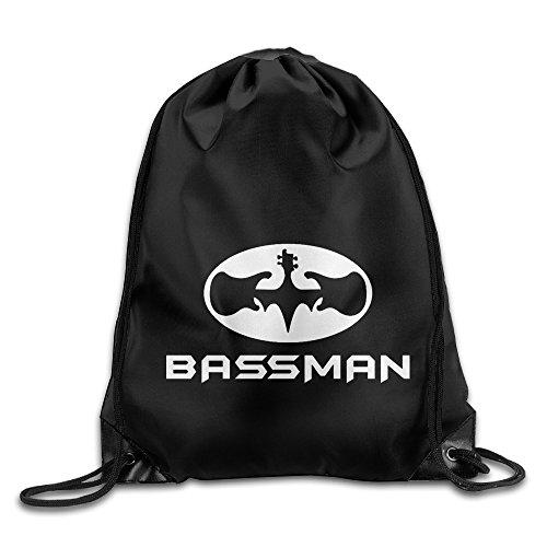 [Bassman Music Pop Rock Roll High Hip Funny School Bag Drawstring Backpack] (Homme Costume National)