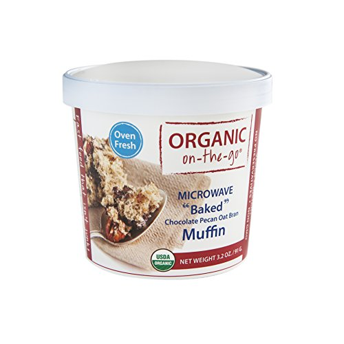 Organic on-the-go Baked Chocolate Pecan Oat Bran Muffin, 3.2 (Baked Muffins)