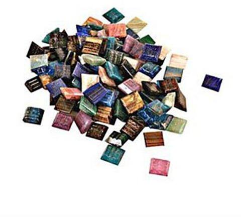 (Mosaic Mercantile Vitreous Glass Mosaic Tiles -- Metallic Colors (Assorted) - 3/8 In. (1/2 Lb. Bag) 1 pcs sku# 1829622MA )