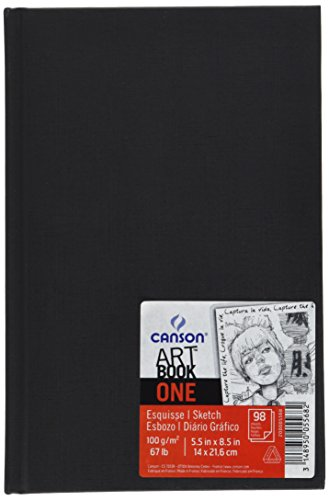 - Canson ONE Art Book Paper Pad, Smudge Resistant Sketch Book Paper Pad, Hardbound, 67 Pound, 5.5 x 8.5 Inch, 100 Sheets