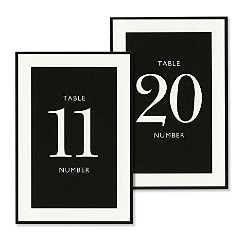 Vera Wang 12-20 Black & White Table Cards by Vera Wang