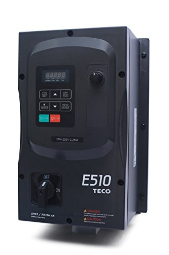 Teco Variable Frequency Drive, 15 HP, 230 Volts 3 Phase Input, 230 Volts 3 Phase Output, NEMA 4/4X/12, E510-215-H3N4-U, Indoor, Medium Duty VFD Inverter for AC motor control