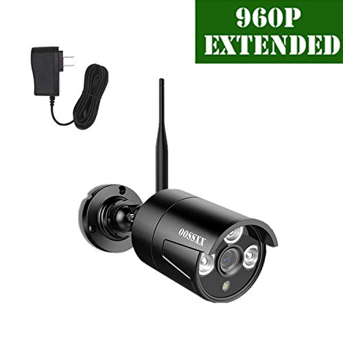 OOSSXX Outdoor/Indoor Video Surveillance Security Waterproof Black Camera,Home IP 960P Black Camera,Night Vision,just Extend for OOSSXX WiFi Kits