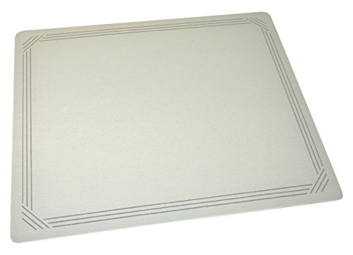 Vance 20 X 16 inch Gray Border Surface Saver Tempered Glass Cutting Board, 82016GB