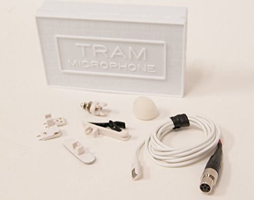 Tram TR50 WML+ Lavalier Microphone w/ TA5f Connector for Lectrosonics, White