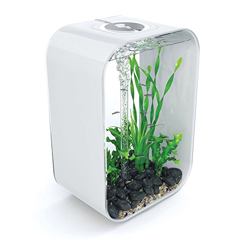 biOrb LIFE 45 Aquarium with Intelligent LED Light – 12 Gallon, White (Designer Fish Tank)