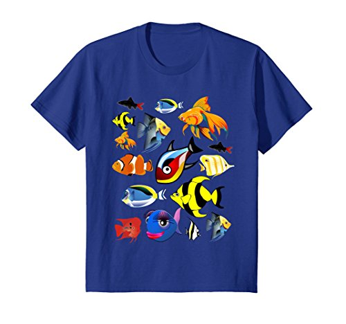 Kids Fishkeeper T Shirt Fish Tank Tropical Aquarium Fish Gift 8 Royal - Fish Gift Tropical