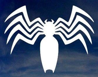 "MARVEL COMICS VENOM SPIDER LOGO VINYL STICKERS SYMBOL 5.5"" D"