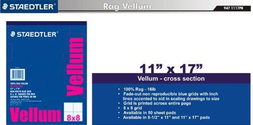 Staedtler Paper 100% Rag Vellum, 8 x 8 Grid, 11