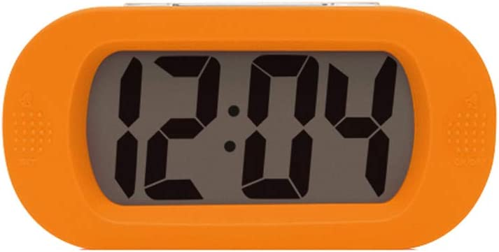 Reloj despertador analógico Reloj de cabecera Relo Creative Silicone Big Screen Snooze Oval Color Electronic Alarm Clock Reloj electrónico Big Digital Display Alarm Clock Reloj pequeño súper silencios
