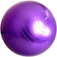 كرة سويس مقاومة للانفجار لممارسة التمارين الرياضية واليوغا لون ارجواني، 65 سم