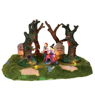 Lemax Spooky Town Are Those Trees Moving? # 24462