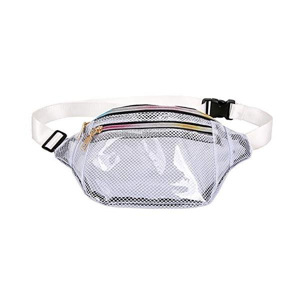 Geagodelia Unisex Marsupio Donna Marsupio Trasparente Impermeabile da Uomo con Cinturino Regolabile per Escursionismo… 1 spesavip