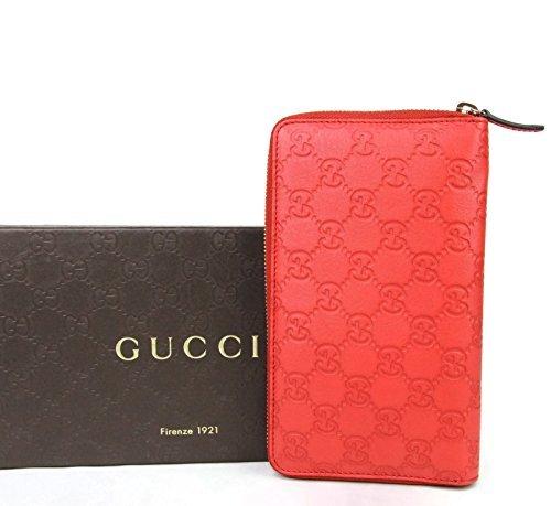 Gucci Women's Guccissima Leather Wallet Zip Around Travel Clutch 321117 (Blue)