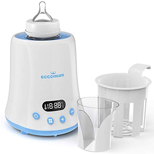 Baby Bottle Warmer, Eccomum Fast Breast Milk Warmer with a Timer, Baby Food Heater with LCD Display Accurate Temperature Control, Constant Mode, Fit All Baby Bottles (Dr Browns Natural Flow Deluxe Bottle Warmer)