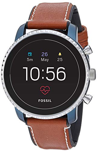 Fossil Leather Touchscreen Smartwatch (Model: FTW4016) (Best Android Wear 2.0 Watches)