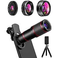 MACTREM Phone Camera Lens, 20X Telephoto Lens + 205°...