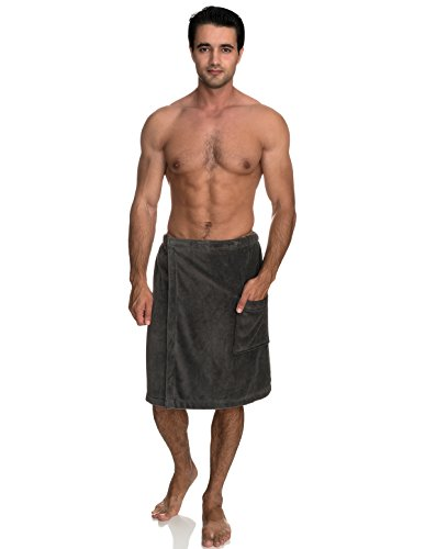 Turkey Smoked Wrap (TowelSelections Men's Wrap, Shower & Bath, Terry Velour Towel Large/X-Large Smoked Pearl)
