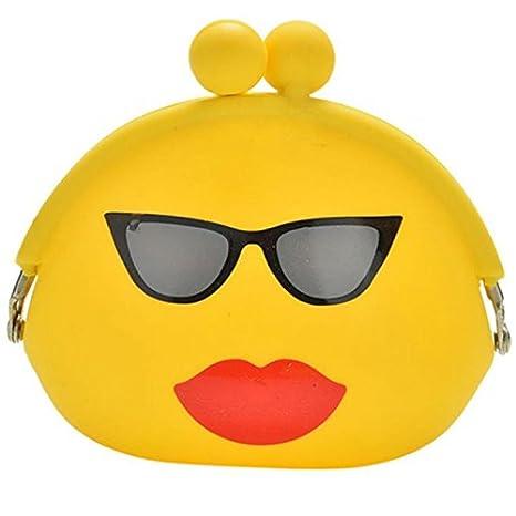 growthci mujeres niñas cartera Kawaii Cartoon Emoji silicona Jelly moneda bolsa bolso regalo para niños: Amazon.es: Hogar