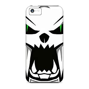 Awesome Arctic Cat Flip Case With Fashion Design For Iphone 5c