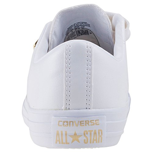 Converse Chuck Taylor All Star 3v Ox Dames Trainers Wit Goud