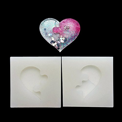 SEPTEMBER Jewelry Beading Casting Mold, DIY Handmade Silicone Mold, Clear Mold For Resin, Crystal, Square, Heart Shape (Resin Mold)