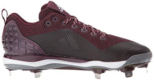 Zapatillas De Fútbol Adidas Hombres Freak X Carbon Mid, Maroon / Plata Metalizada / Blanco, 9.5 Medium Us