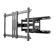 Kanto Full-Motion TV Wall Mount for 37-inch to 75-inch Flat-Screen Monitor – Easy Install – Black