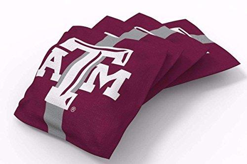 Bag A&m Bean Texas - PROLINE 6x6 NCAA College Texas A&M Aggies Cornhole Bean Bags - Stripe Design (A)