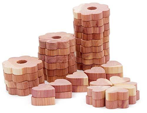 Cedar Oak Dresser - Wahdawn Aromatic Fresh Cedar Heart Blocks and Clothes Protection Cedar Hanger Rings [40]