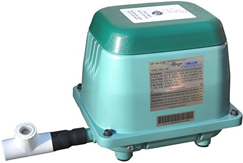 HiBlow 40 Septic Linear Air Pump (Longest Lasting Pump on The Market) w/Back Pressure Safety Valve from Bracys A-1 Septic