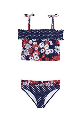 Jantzen Girls Two Piece Bikini Swimsuit Set (10, Nautical Floral Print)