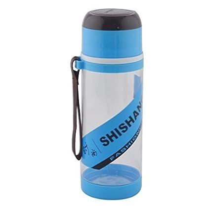 eDealMax plástico desmontable Camping colador de té Deporte Botella de agua de la Taza de 630